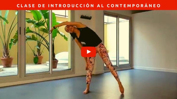 Clase de introducción al baile contemporáneo