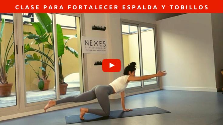 Pilates para fortalecer la espalda y tobillos