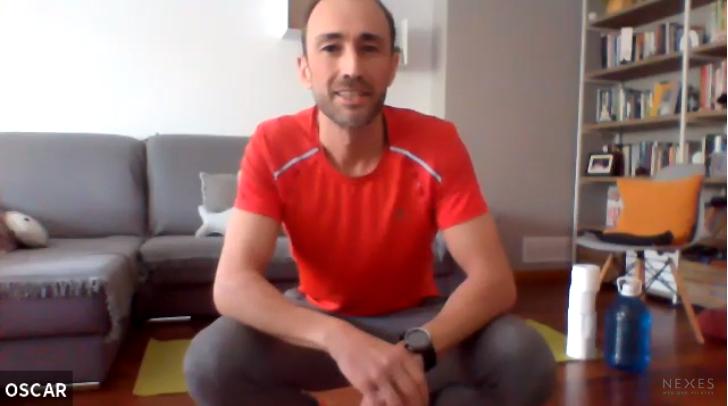 Clase en directo de movimiento funcional con Oscar a las 13:30 en Premià 13/04/2020